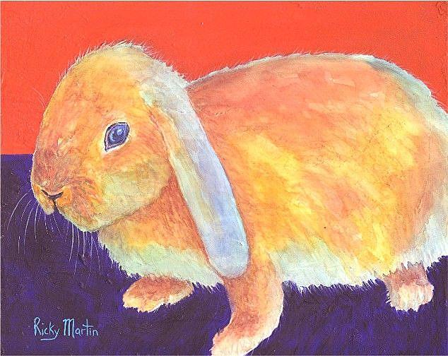 Art: My Soft Little Bunny by Artist Ulrike 'Ricky' Martin