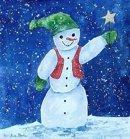 Art: Snowman by Artist Ulrike 'Ricky' Martin