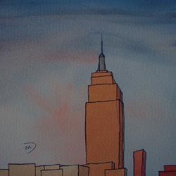 Art: American Cityscape Series No24 by Artist Martin Devine