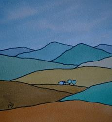Art: Steinbeck Country : Valley of the World by Artist Martin Devine