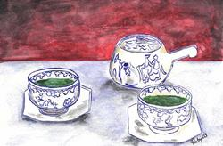 Art: Green Tea by Artist Marcia Ruby