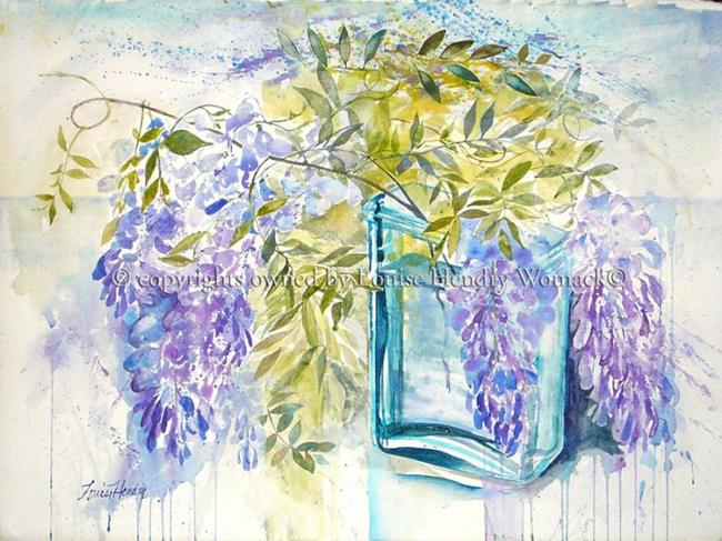 Art: Wisteria in a Battery Jar # 2 by Artist Louise Hendry Womack