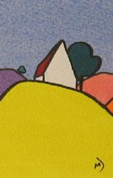 Art: ACEO House On The Hill Series No3 by Artist Martin Devine