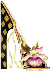 Art: Showy Lady's Slipper by Artist Elena Feliciano