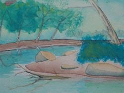 Art: Loyalhanna Creek by Artist Bob Gillingham