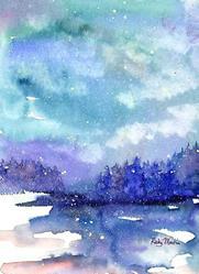 Art: Silent Winter Night by Artist Ulrike 'Ricky' Martin