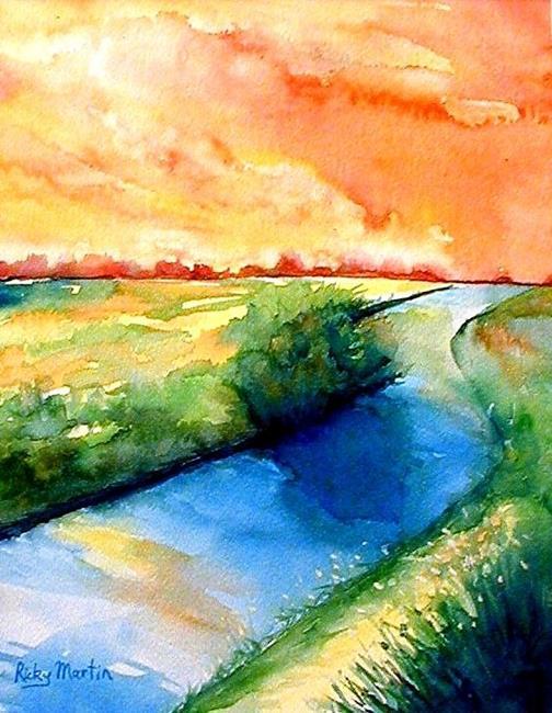 Art: Florida Sunset by Artist Ulrike 'Ricky' Martin
