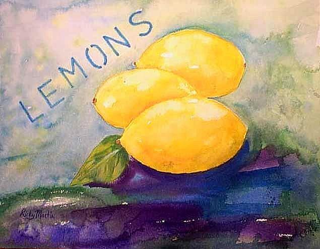 Art: 3 Lemons  ( sold) by Artist Ulrike 'Ricky' Martin
