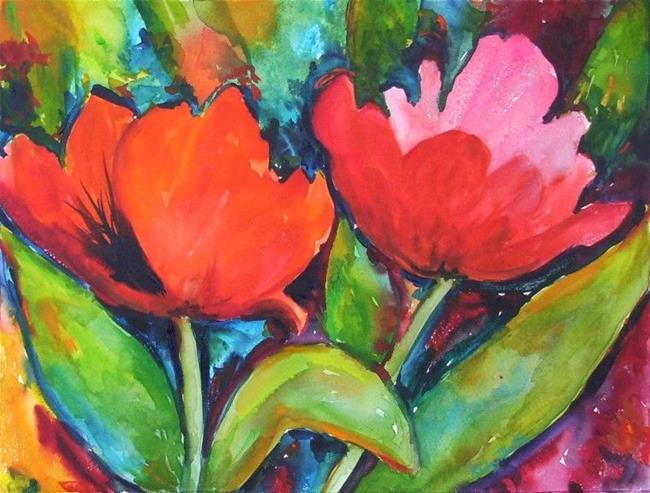 Art: Tulips  in full Bloom by Artist Ulrike 'Ricky' Martin