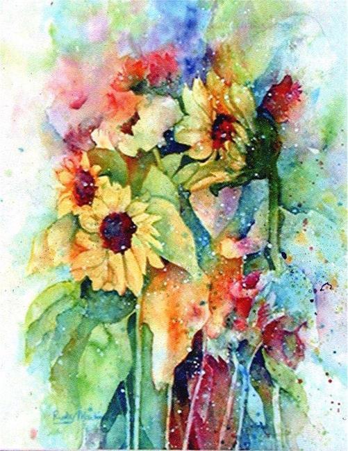 Art: Sunflower Medley by Artist Ulrike 'Ricky' Martin