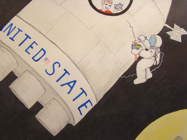 Art: SPAM IN SPACE by Artist Leea Baltes