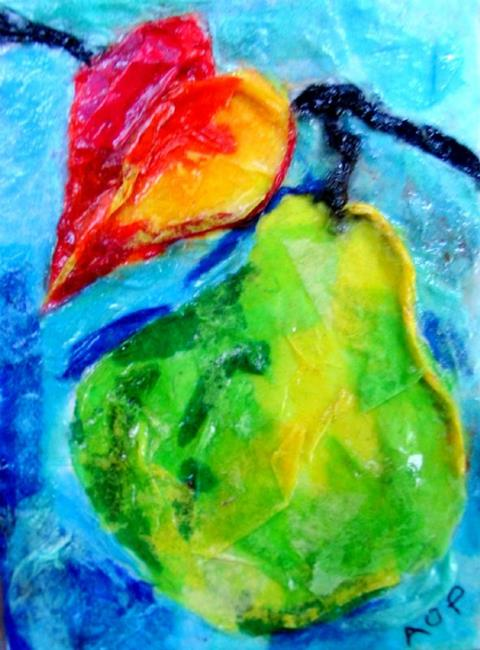 Art: ACEO Theme Week Contest: Autumn's Pear by Artist Patience