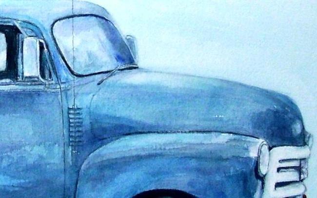 Art: Broken down old Chevy Truck by Artist Ulrike 'Ricky' Martin