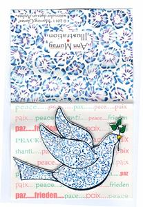 Detail Image for art Christmas Card Peace Dove