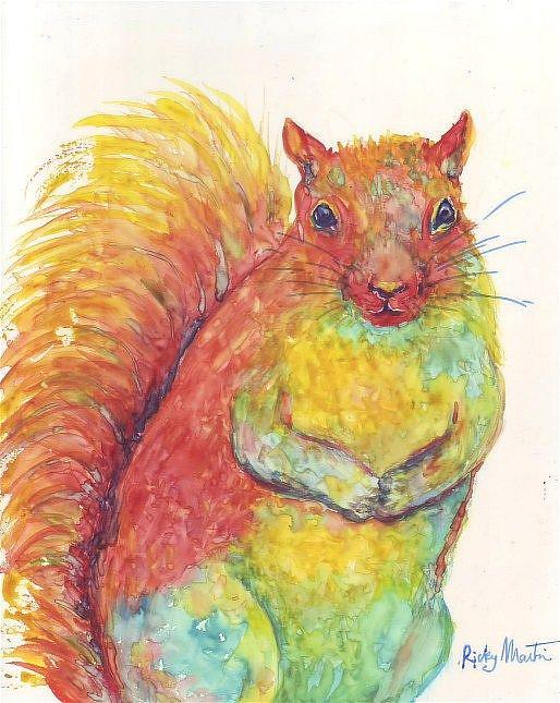 Art: A very squirrely Squirrel - available in my etsy store by Artist Ulrike 'Ricky' Martin