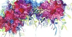 Art: Abstract Bouquet by Artist Ulrike 'Ricky' Martin