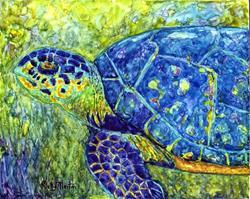 Art: Sea Turtle - sold by Artist Ulrike 'Ricky' Martin