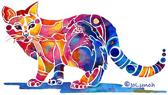 Art: Calico Cat by Artist Jo Lynch