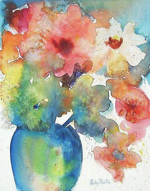 Art: Soft Abstract Bouquet available in my etsy store by Artist Ulrike 'Ricky' Martin