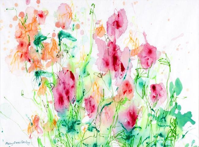 Art: Columbines by Artist Mary Anne Carley