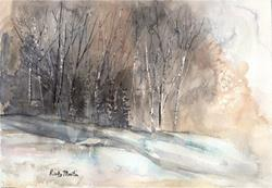 Art: Winter Woods - sold by Artist Ulrike 'Ricky' Martin