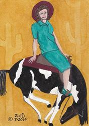 Art: Bucking Bronco by Artist Dee Turner