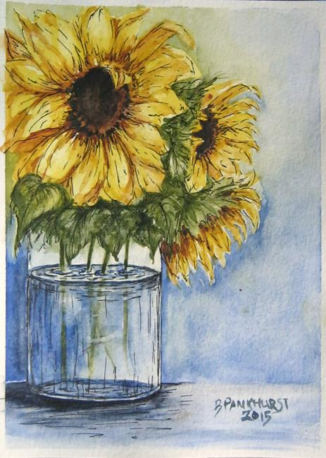 Art: SUNFLOWERS - sold by Artist Bonnie Pankhurst