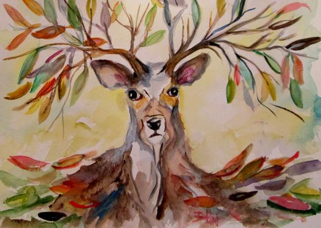 Art: Fall Deer by Artist Delilah Smith