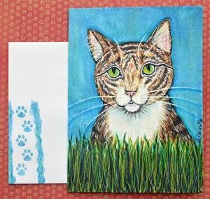 Detail Image for art The Hunter Cat