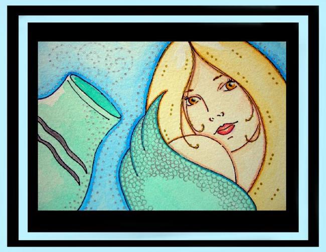 Art: Acuarius, A Mermaid by Artist Cyra R. Cancel