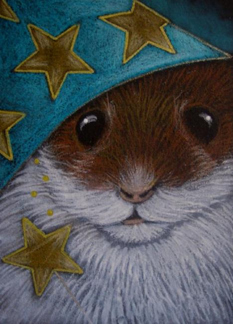 Art fantasy hamster halloween wizard costume by artist cyra r