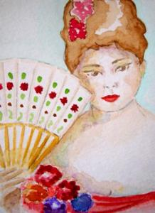 Detail Image for art Lady with Hand-Held Fan