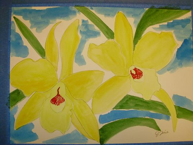 Art: Lori's Yellow Orchid -SOLD by Artist Jim Trice