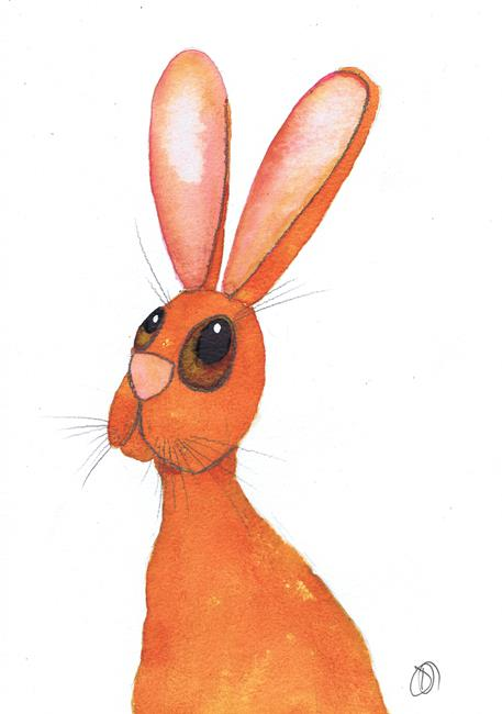 Art: CHEEKY HARE h3027 by Artist Dawn Barker