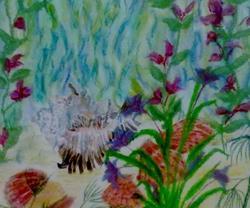 Art: SEA GARDEN by Artist Julie Jules