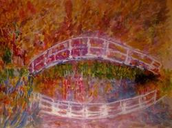 Art: MONET'S BRIDGE I by Artist Julie Jules