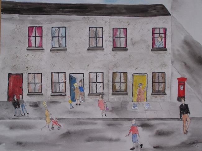Art: BUSY DAYS by Artist Dawn Barker
