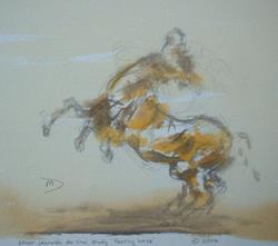 Art: Rearing Horse by Artist Martin Devine