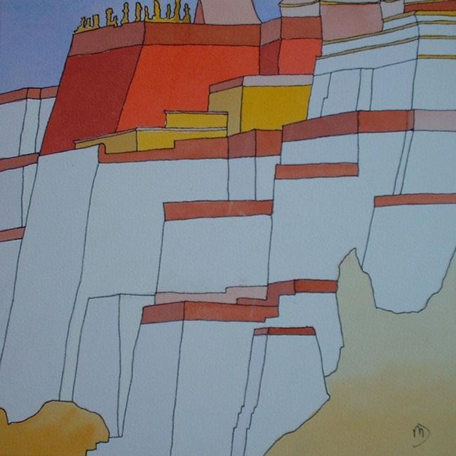 Art: The Potala, Lhasa, TIBET by Artist Martin Devine
