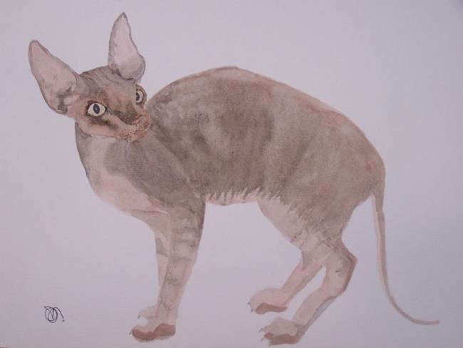 Art: SPHYNX CAT C999 by Artist Dawn Barker