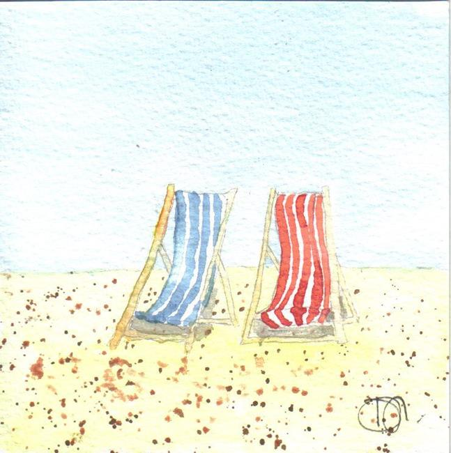 Art: DECK CHAIRS by Artist Dawn Barker