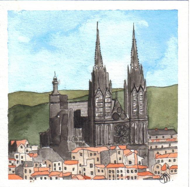 Art: NOTRE DAME CATHEDRAL by Artist Dawn Barker