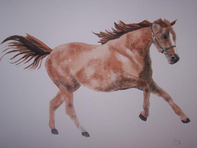 Art: RACEHORSE by Artist Dawn Barker