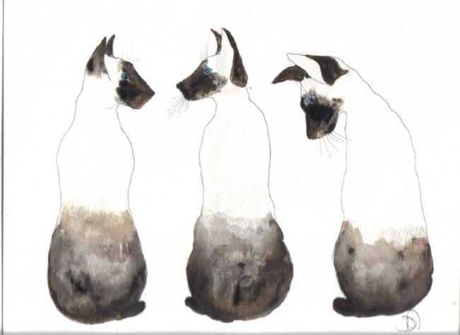Art: SIAMESE CATS by Artist Dawn Barker