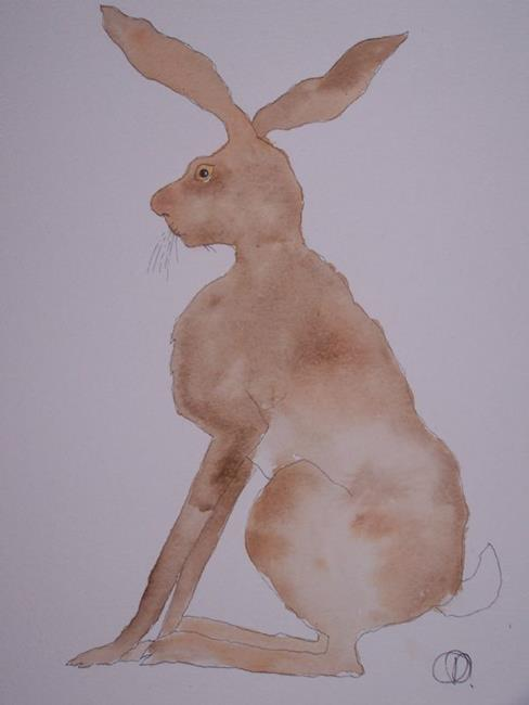 Art: HARE h416 by Artist Dawn Barker