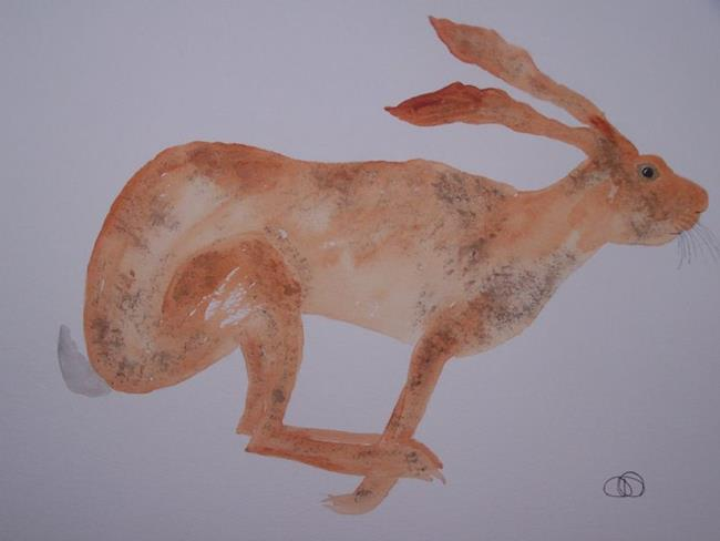 Art: HARE h418 by Artist Dawn Barker