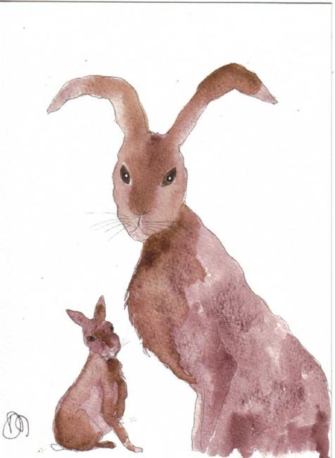 Art: HARE h421 by Artist Dawn Barker
