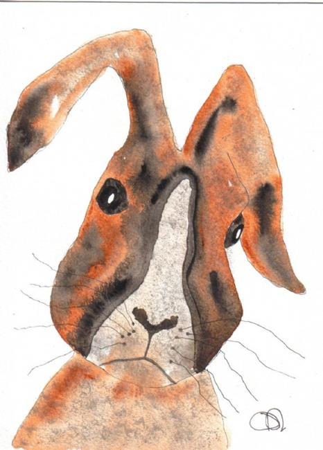 Art: HARE h422 by Artist Dawn Barker