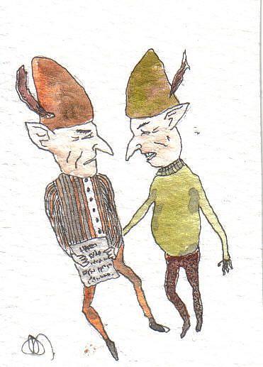Art: Goblins steal book of spells by Artist Dawn Barker