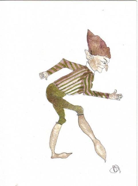 Art: Sneaky Goblin by Artist Dawn Barker